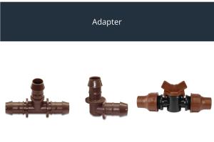 Adapter für Drip- und Druckleitung braun