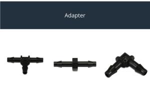 Adapter für Druckleitung 6mm schwarz